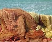 Fishing nets on coast — Stock Photo