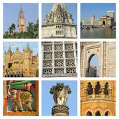 Mumbai city collage — Stock Photo