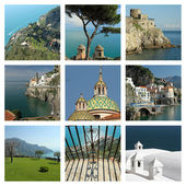 Amalfi Coast - collage — Stock Photo