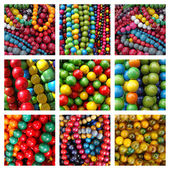 Colorful beads necklaces — Stock Photo