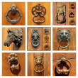 Beautiful old door knockers — Stock Photo #46391113