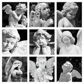 Cemetery angelic figurines — Stock Photo