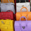 Colorful leather handbags — Stock Photo #47022177