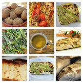Canarian cuisine collage — Stock Photo