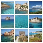 Sardinia island seaside collage  — Stock Photo