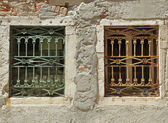 Two old windows — Stock Photo