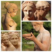 Female statues — Stock Photo