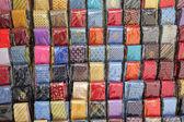 Neckties on stand — Stock Photo