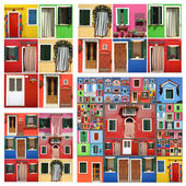 Colorful abstract facades — Stock Photo