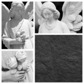Angels sculptures — Stock Photo