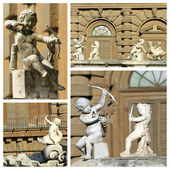 Cupids sculptures — 图库照片