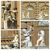 Cupids sculptures — Stock Photo