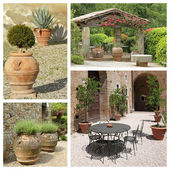 Tuscan backyards — Stock Photo