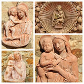Collage with Madonna and Child — Stock Photo