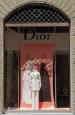 Dior boutique in Florence — Stock Photo