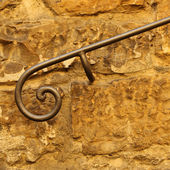 Decorative  classic wrought handrail — Foto de Stock