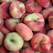 Saturn peaches, also known as Donut (Doughnut) peaches — Stock Photo #50415241