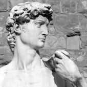 Closeup of David by Michelangelo — Stock Photo