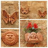 Terracotta decorative trinkets — Stock Photo