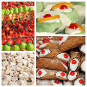 Sicilian sweets collage — Stock Photo