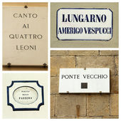 Street collage, Florence — Stock Photo