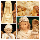 Christmas angelic figurines — Stock Photo
