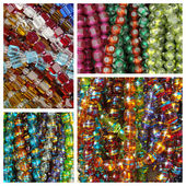 Glass bead-work necklaces — Stock Photo