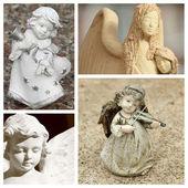 Andělský koláž — Stock fotografie