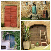 Colorful country doors — Stock Photo