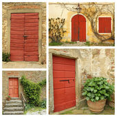 Red country doors — Stock Photo