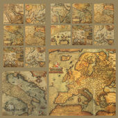 Old maps composition — Stock Photo