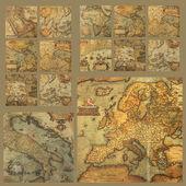 Alte karten-zusammensetzung — Stockfoto
