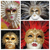 Venetian masks collage — Stock Photo