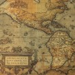 Antque map of America — Stock Photo #8748252