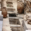 Jars in an excavation site — Stock Photo