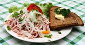 Palatine sausage salad — Stock Photo