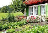 Farmhouse with garden — Stock Photo