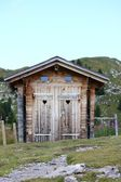Outhouse in the mountains — Foto Stock