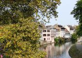 Houses on the river Ill in Strasbourg — Stock Photo