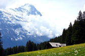 Cottage in the mountains — Stock Photo