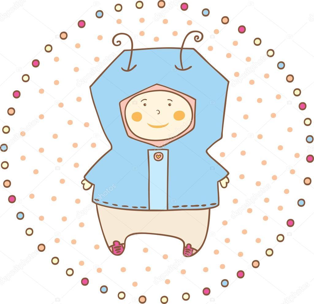 婴童 - 图库插图