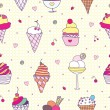 Stock Vector: Pattern ice-cream