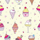 Pattern ice-cream — Stock Vector