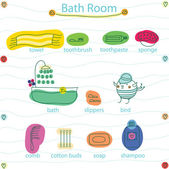 Bath room — Stock Vector