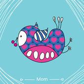 Mom bird — Stock Vector