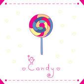 Delicious candy — Stock Vector