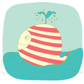 Small whale — Stock Vector