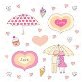 Romantic elements — Stock Vector