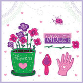 Violet — Stock Vector