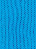 Blue knitted background — Stock Photo